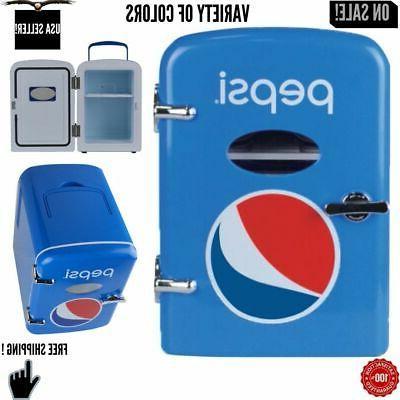 6 can cooler mini fridge office personal