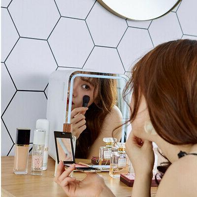 8L Mirrored Light Fridge Refrigerator Beauty
