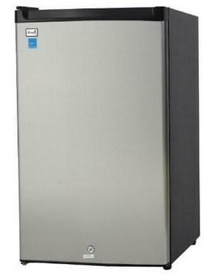 Avanti - 4.5 Cu. Ft. Compact Refrigerator - Black/stainless