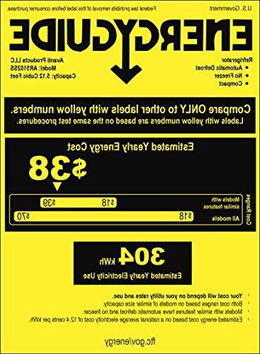 "Avanti AR5102SS All Refrigerator, 24""/5.1 cu. ft, Stainless"