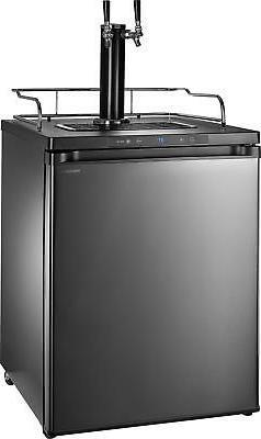 Insignia- 5.6 Cu. Ft. Dual Tap Beverage Cooler & Kegerator -