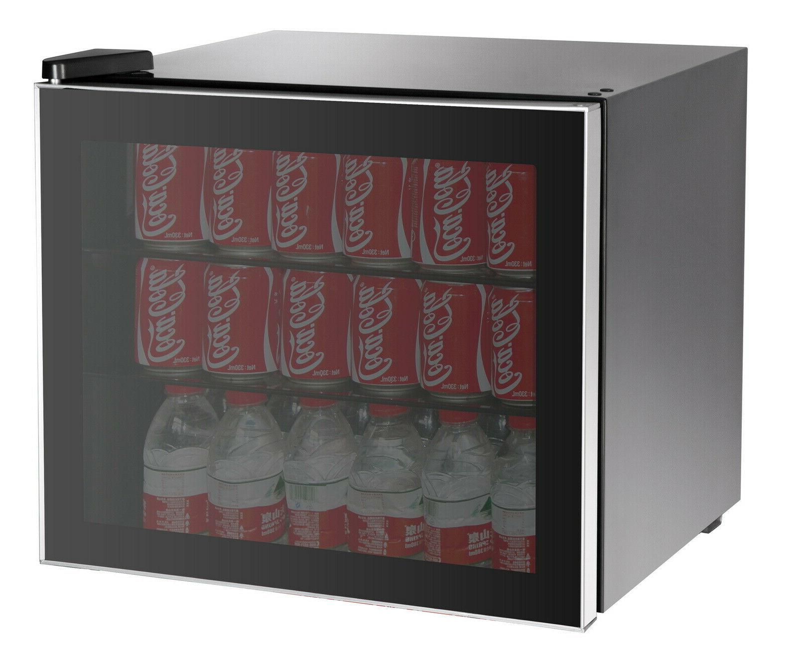 Beverage Center Refrigerator Cooler Glass Door Mini Fridge W