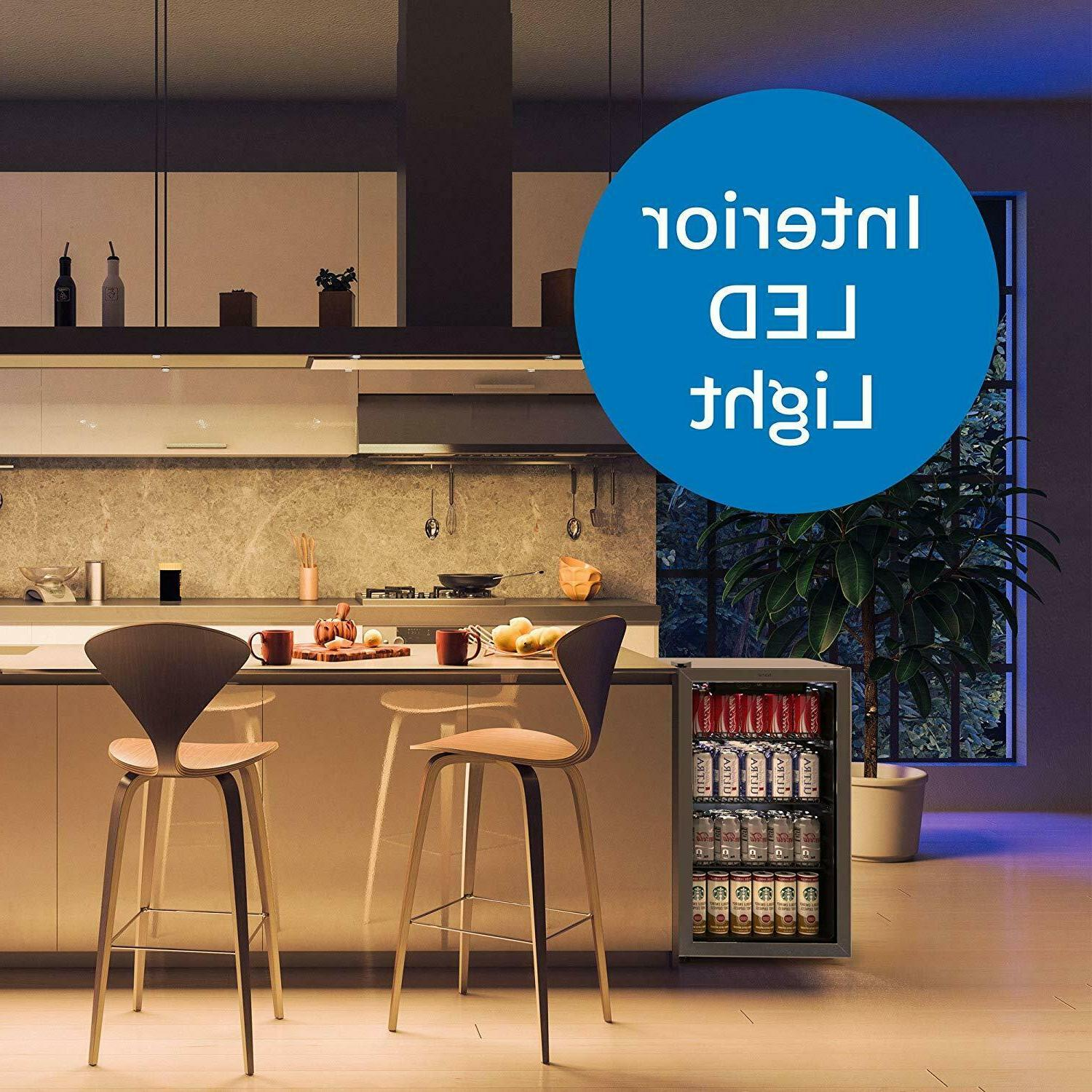 hOmeLabs Beverage and Cooler - Mini with Glass Door