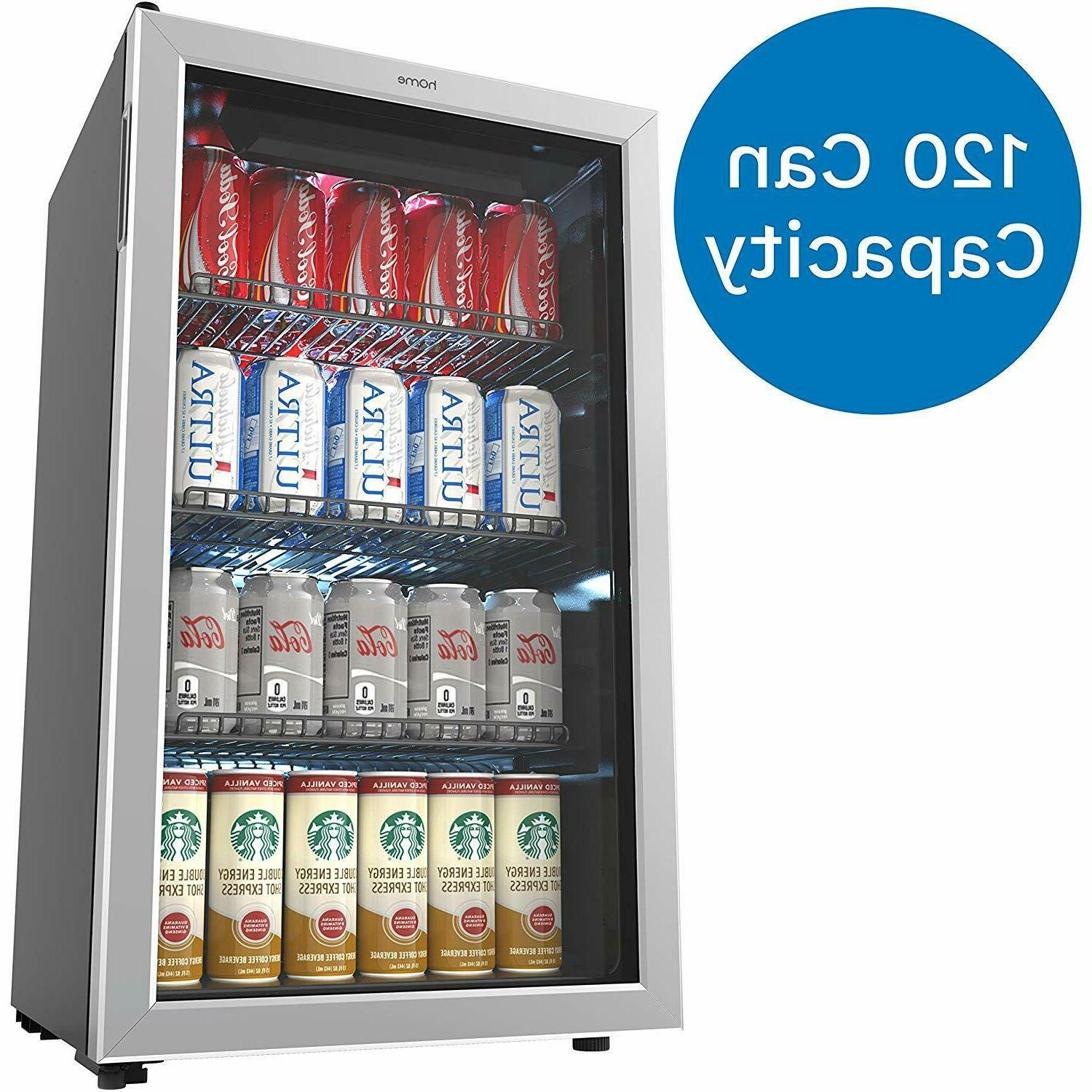 hOmeLabs Beverage Refrigerator Cooler Mini with