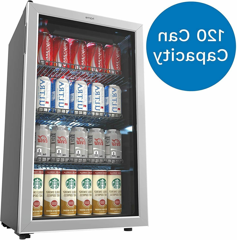 hOmeLabs Beverage Refrigerator and Cooler - 120 Can Mini Fri