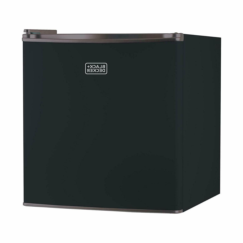 Black Decker Mini Compact Refrigerator Freezer Dorm Office C