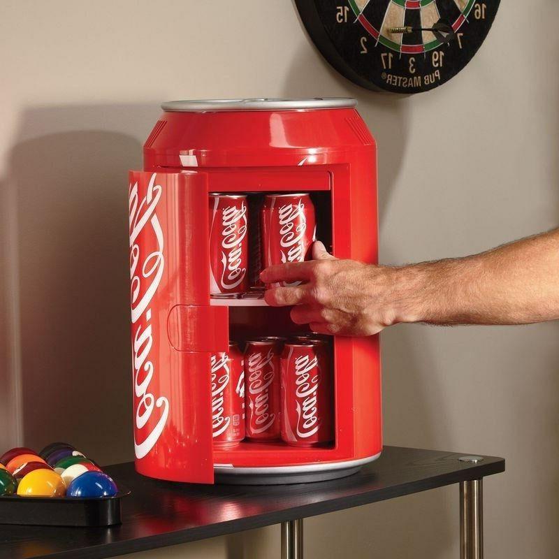 compact coca cola can refrigerator mini countertop