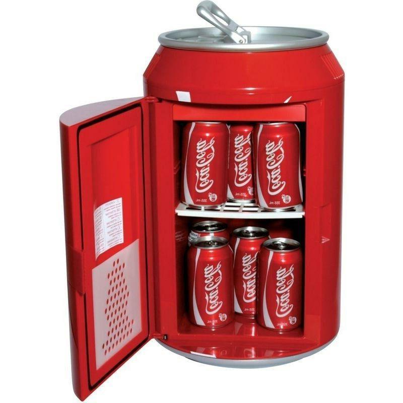 Compact Coca-Cola Refrigerator, Mini Countertop Soda