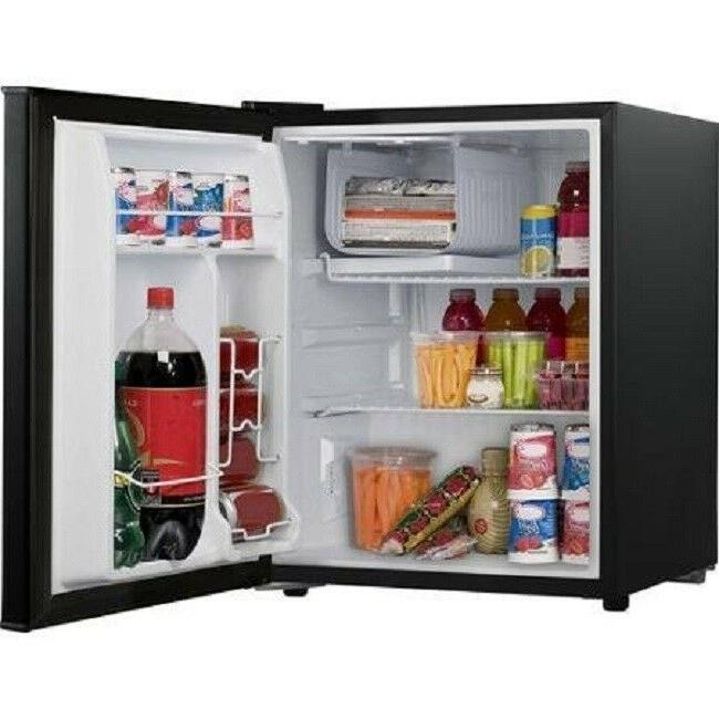 Compact Refrigerator Freezer Reversible Single Door 2.7 Cubic
