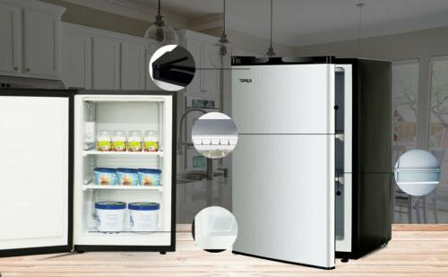 Compact Mini Freezer Fridge Refrigerator Steel 1.1