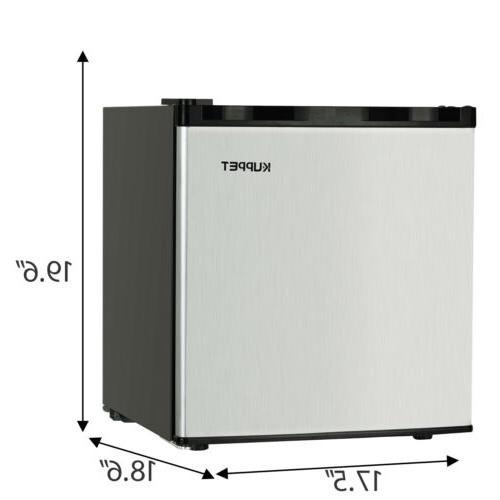 Compact Freezer Fridge Steel 1.1
