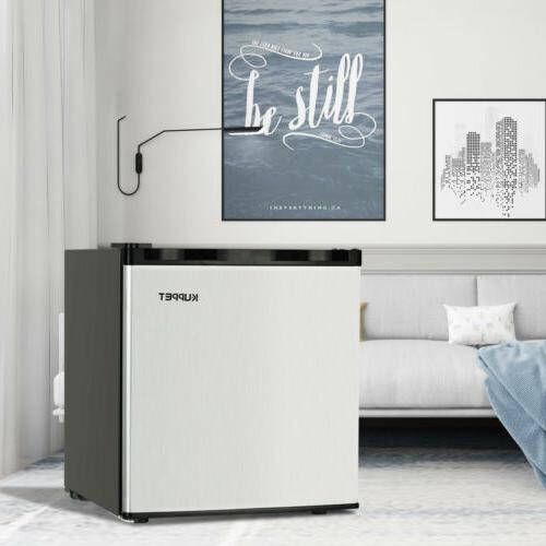 1.1 Mini Upright Small Refrigerator Steel Silver
