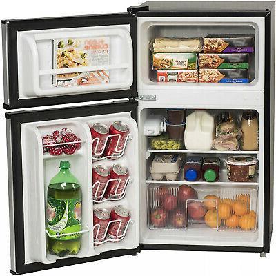 3.2 Ft Fridge Freezer Refrigerator Steel