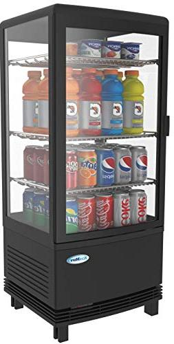 KoolMore Countertop Refrigerator Display Case Commercial Bev