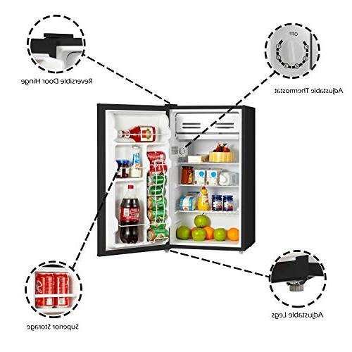 Emerson CR330BE Foot Compact Refrigerator, Black