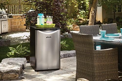 Danby DAR044A6BSLDBO cu.ft. Outdoor Compact Refrigerator, Spotless