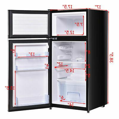 Double 3.4 ft. Unit Refrigerator