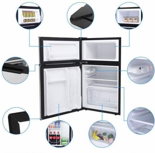 Double Mini Refrigerator Freezer
