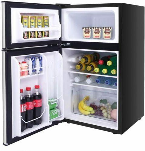 Double Doors Compact Refrigerator Cooler Fridge