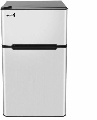 Double Doors Compact Refrigerator Freezer Fridge Saving