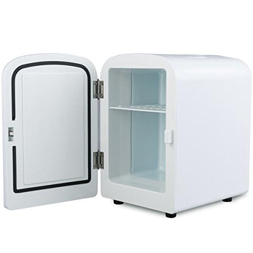 White Mini Cooler Heats Auto Boat Office