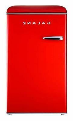 Galanz GLR35RDER Mini Fridge, Retro, Red