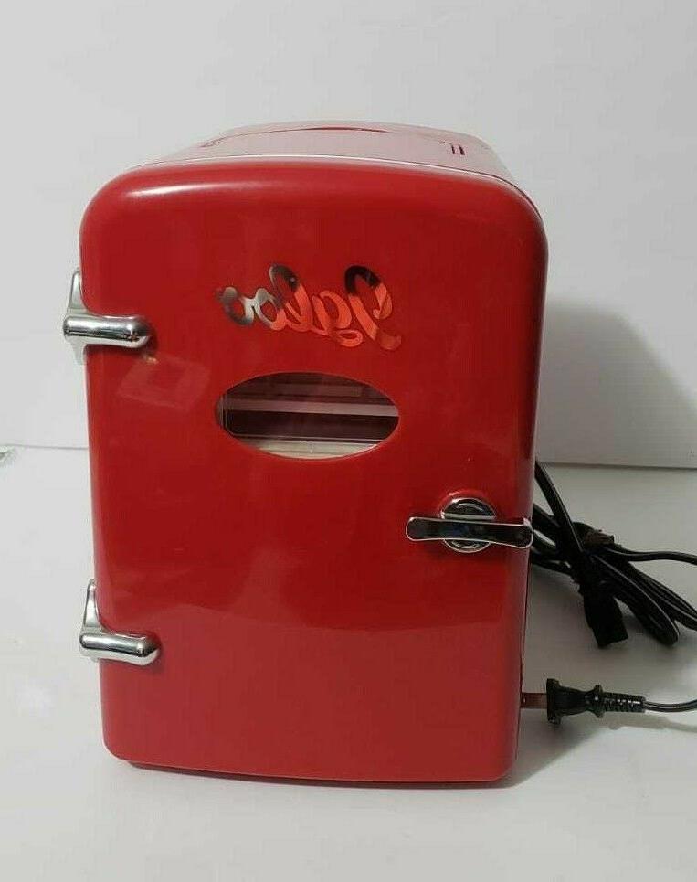 igloo fridge red retro 6 can beverage