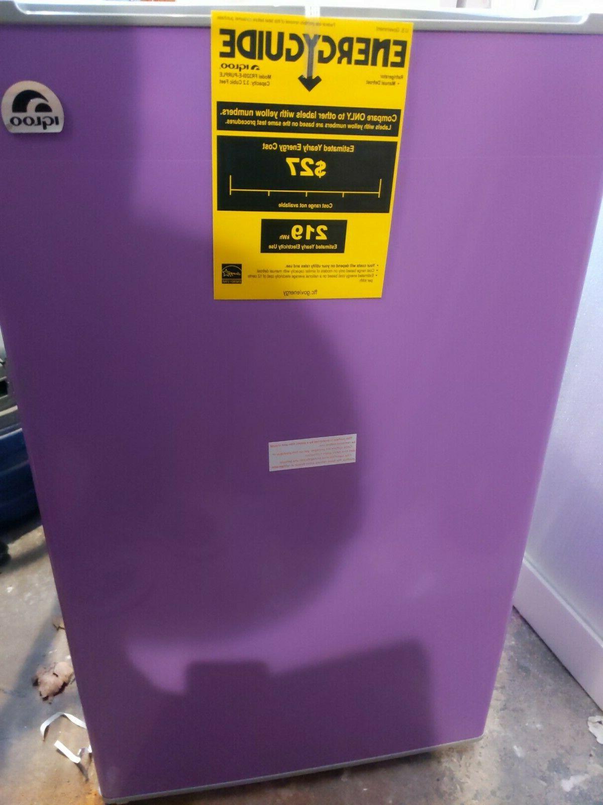 igloo refrigerator purple open box cosmetic damage
