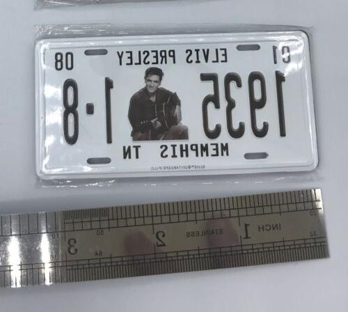 Lot 2x Presley plate birthdate Magnetic fridge Mini magnets