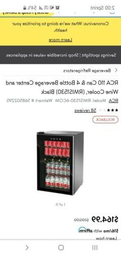 Mini Beverage Refrigerator 110 Can Locking Center Cooler 4 B