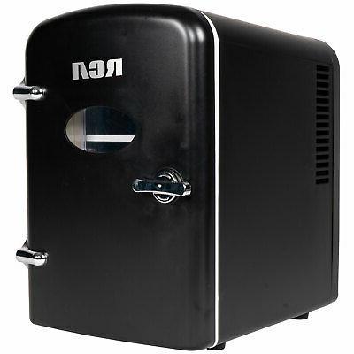 mini beverage refrigerator black