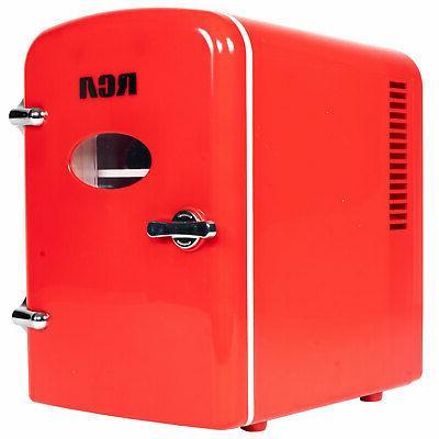 mini compact refrigerator red new in box