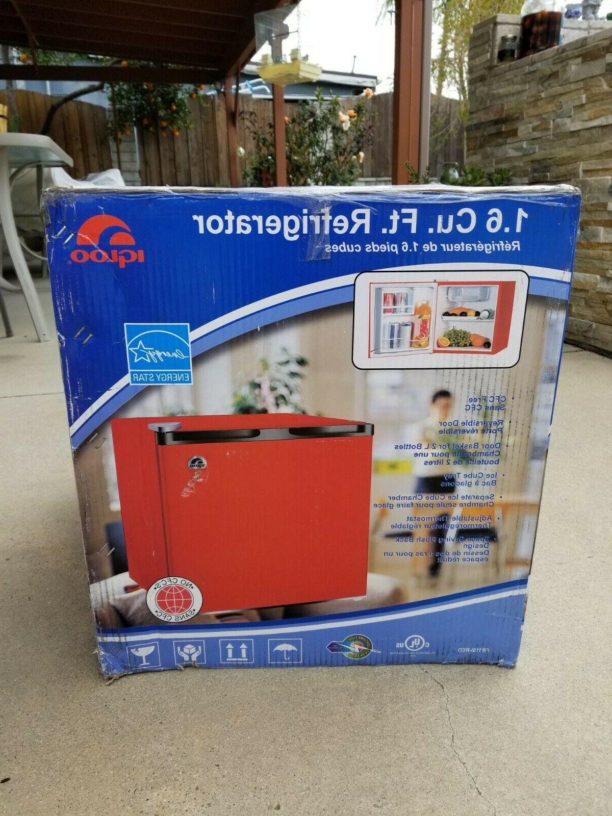 mini fridge 1 6cu new