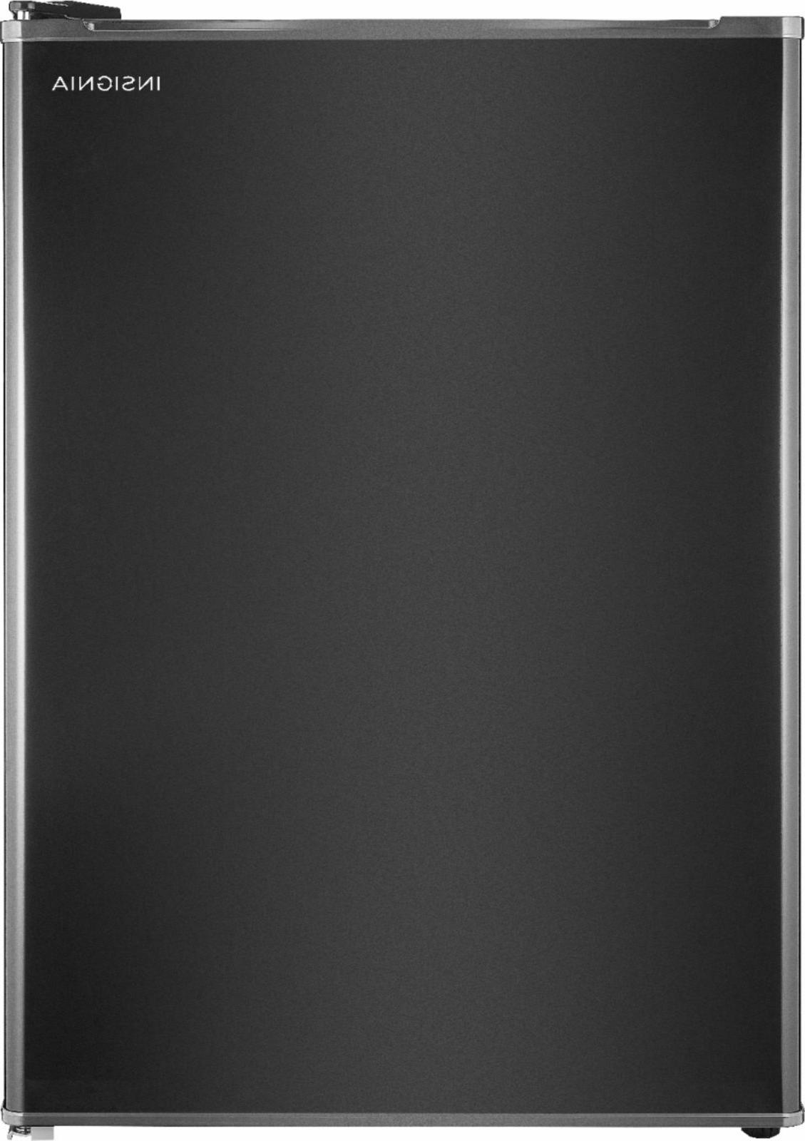 mini fridge black insignia compact 2 6