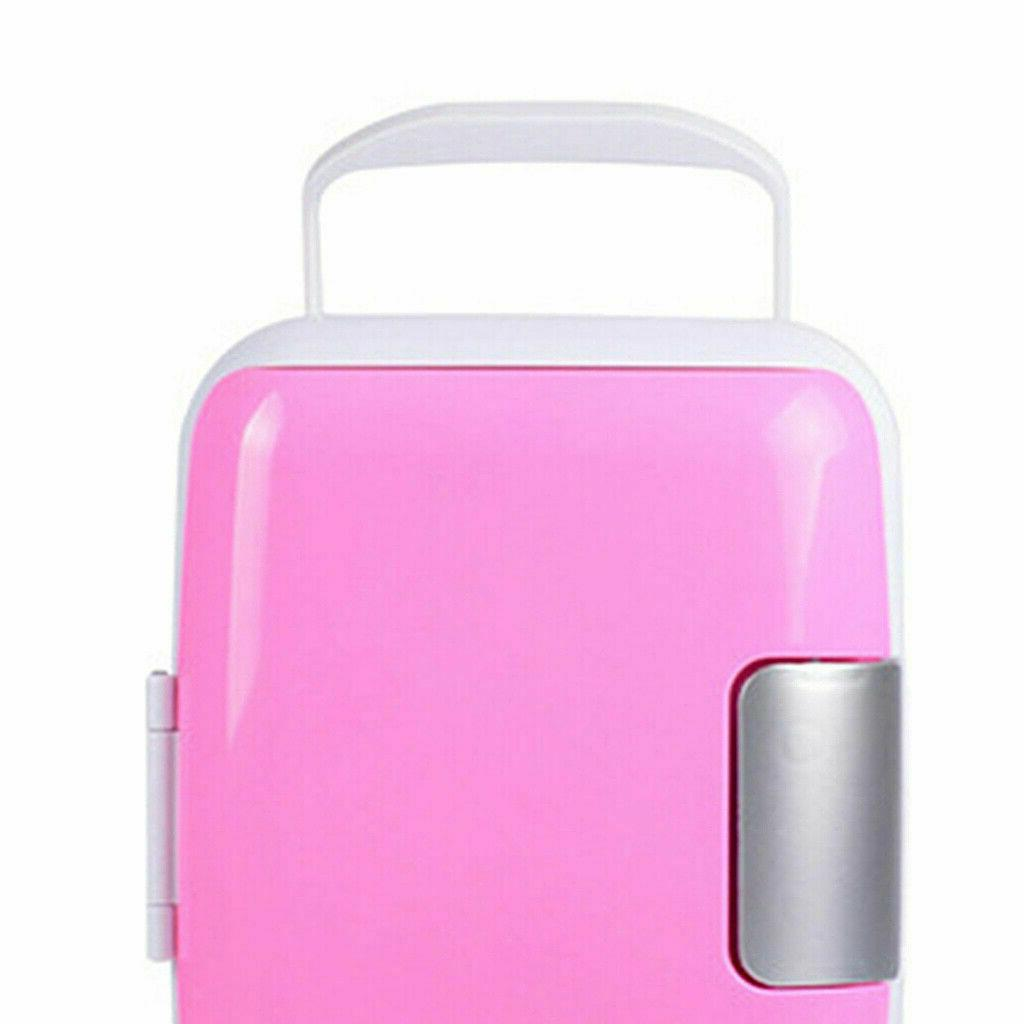 Mini Portable 12V 4 Cooler and Warmer Pink