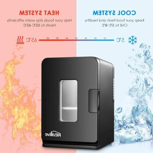 Mini Refrigerator Fridge Car Freezer Portable Dorm Fridge Black