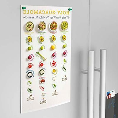 Neodymium Mini Fridge Magnets Strong 14 Pack, Assorted Kitchen