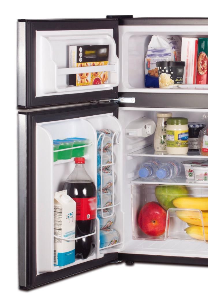 New Cu. Compact Mini Two Door Refrigerators Freezer Dorm Office