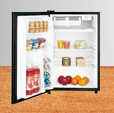 New Single Cooler Freezer Refrigerator, Black