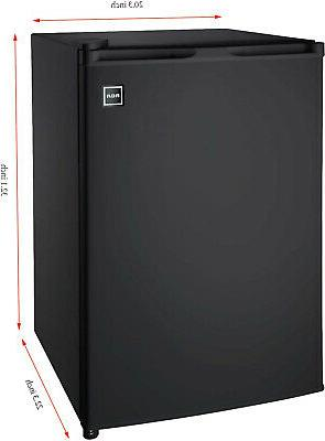 New Single Mini Cooler Compact Refrigerator, Black