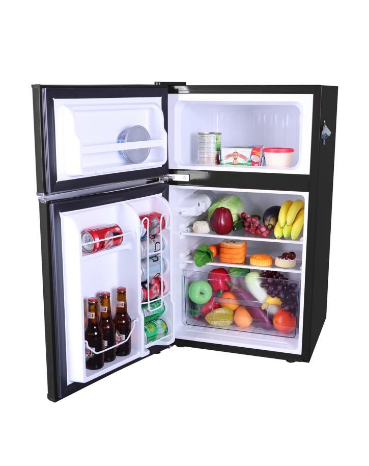 New Black Cu Ft Retro 2 Door Refrigerator Dorm Office