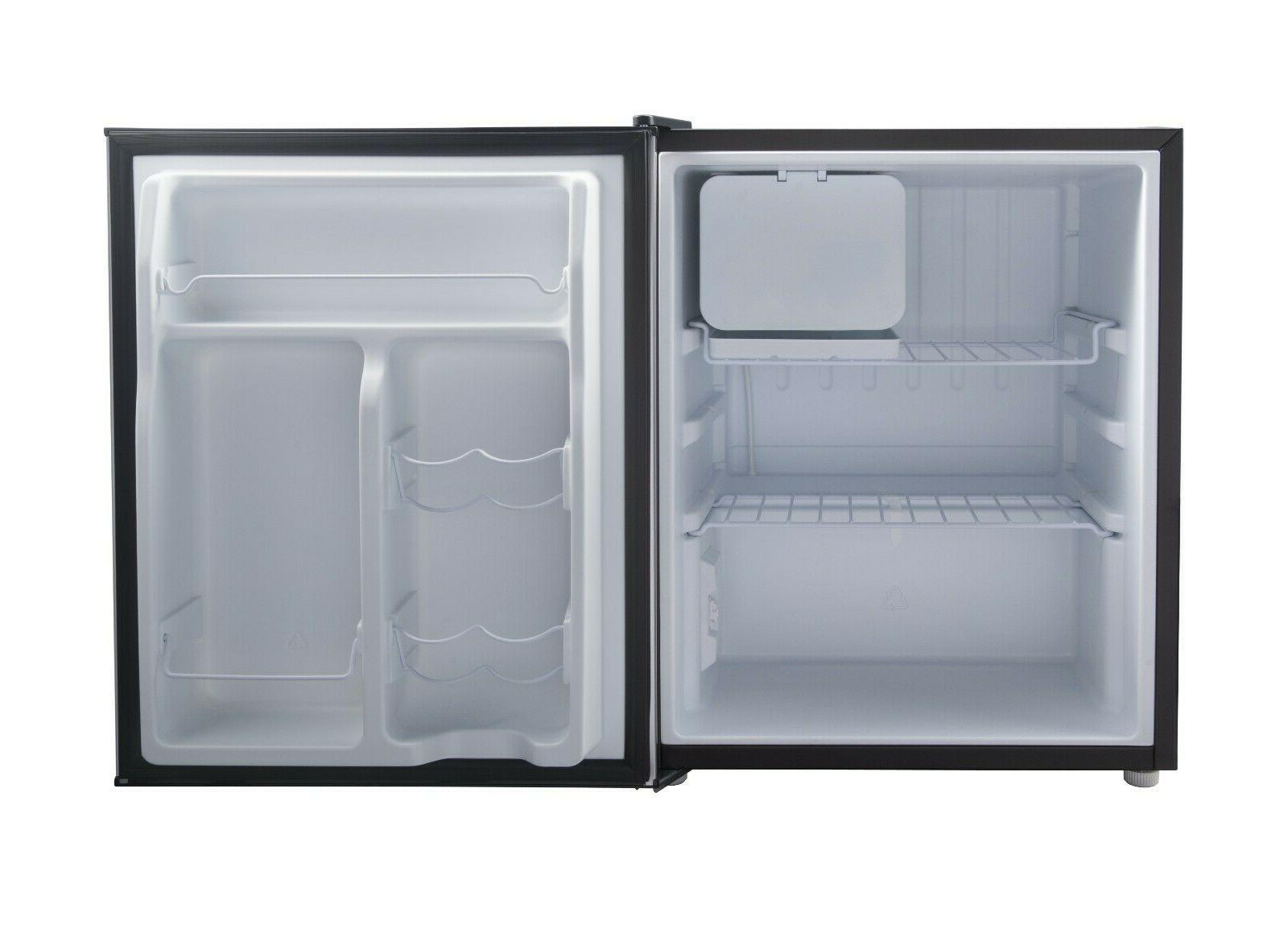 Galanz 2.7 Cu Single Door Fridge Freezer Small Steel