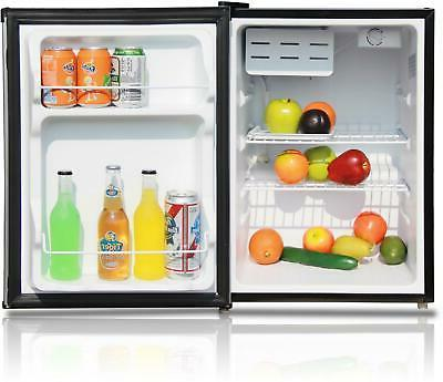 One Mini Refrigerator Manual Defrost Stainless