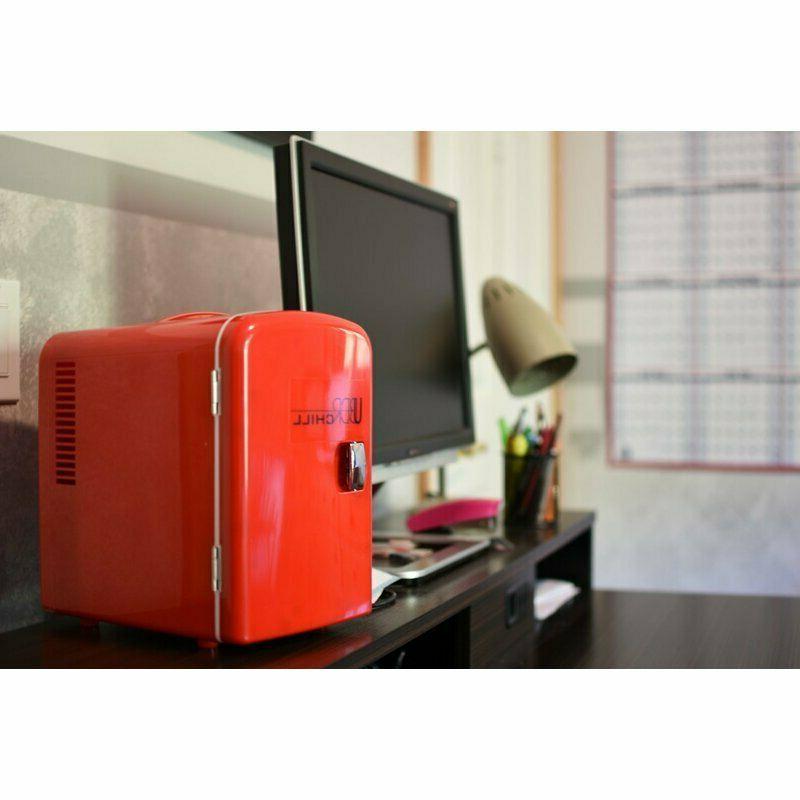 Countertop Mini Fridge Portable Desk Cooler Small