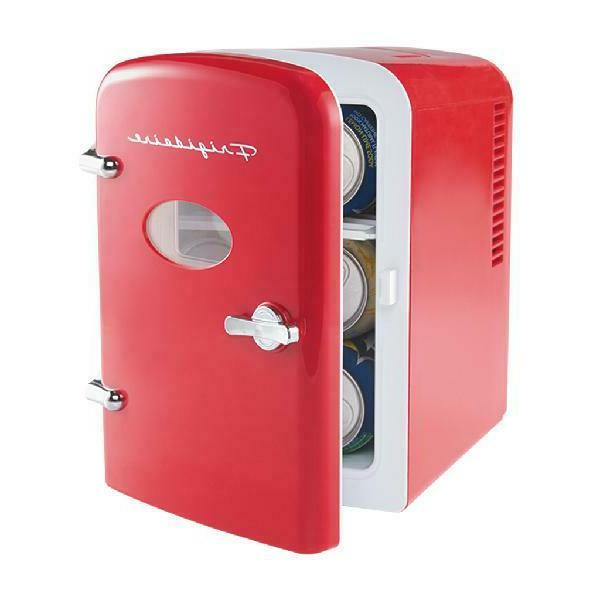 Portable Compact Refrigerator Red Color