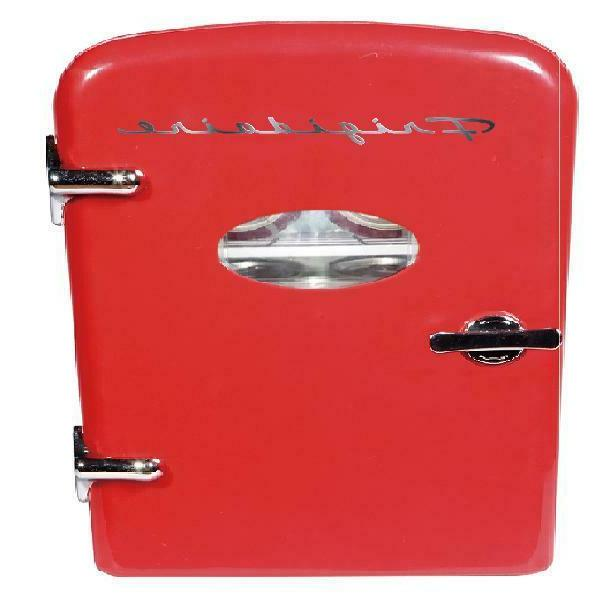 Portable Retro Compact Refrigerator - Red Color