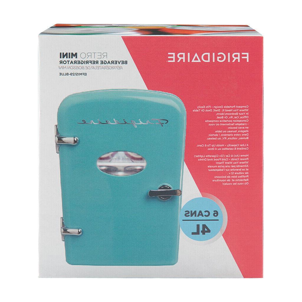 Portable Retro Fridge 6-Can Compact Cooler