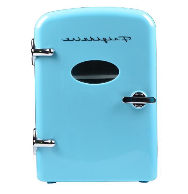 Portable Retro Cooler Personal Mini Fridge Refrigerator Comp