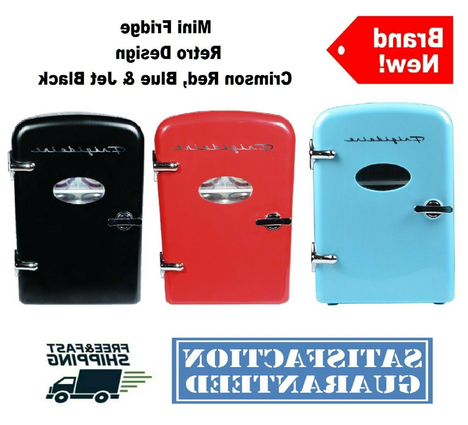 portable retro design mini fridge 6 can
