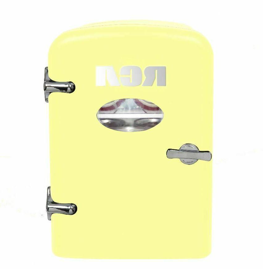 portable retro mini fridge 6 can 4l